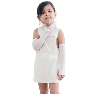 Edenswear鋅健康抗敏小幫手-兒童抗敏防護露指袖套,給異位性皮膚炎 濕疹 皮膚過敏困擾者最舒適的衣物!